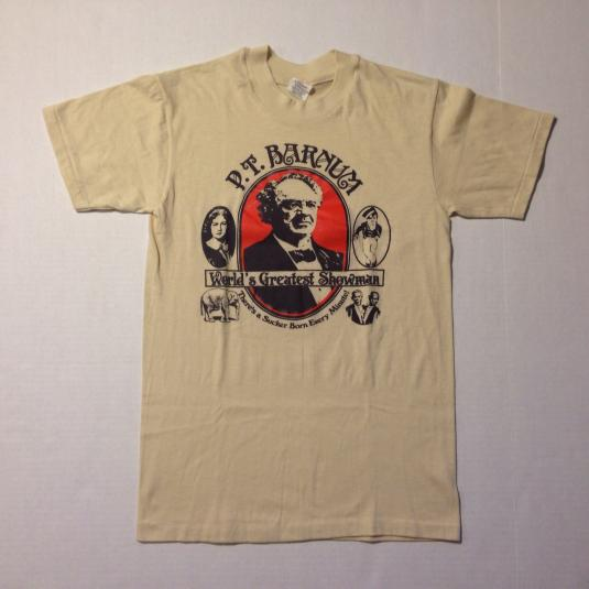 Vintage 1980's PT Barnum circus sideshow fair t-shirt