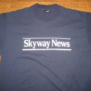 Vintage Late 1980's Skyway News t-shirt, Minnesota, L-XL