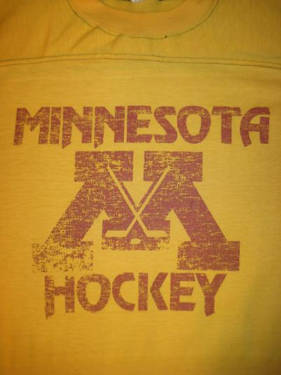 vintage 1970's MN Hockey jersey t-shirt, soft and thin