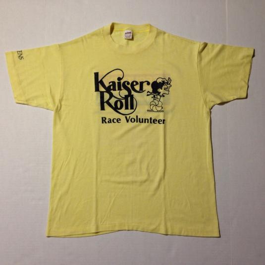 Vintage 1980's Kaiser Roll marathon t-shirt