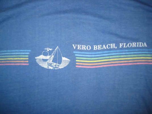 Vintage 1980's Florida t-shirt, S M, soft and thin