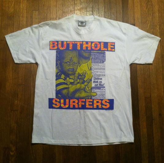 Vintage 1993 Butthole Surfers deadstock tour t-shirt