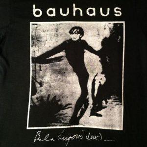Vintage 1980's Bauhaus Bela Lugosi's Dead goth t-shirt