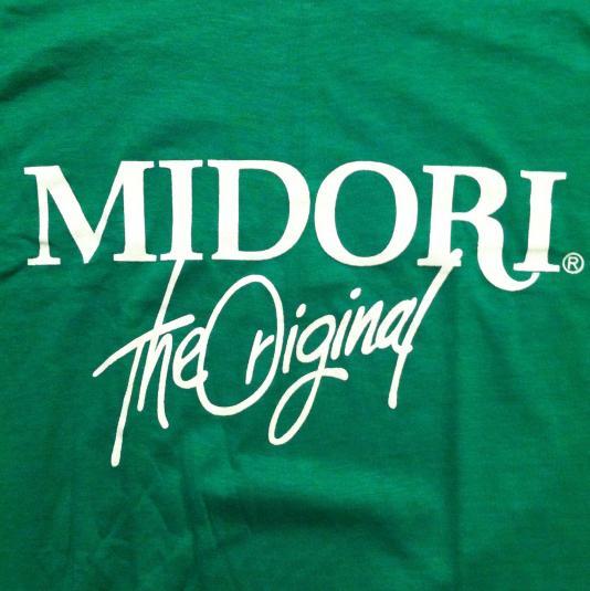 Vintage 1980's Midori liqueur booze alcohol t-shirt