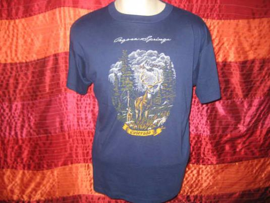 Vintage 1980's Colorado deer t-shirt, soft and thin, XL