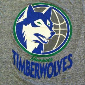 Vintage Minnesota Timberwolves basketball triblend t-shirt