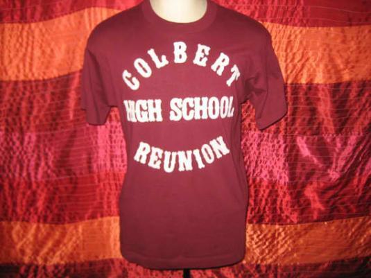 Vintage 80's t-shirt, high school reunion, Screen Stars, M L