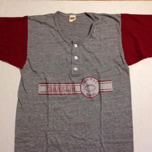 Vintage 1970's, 1980's triblend football henley t-shirt