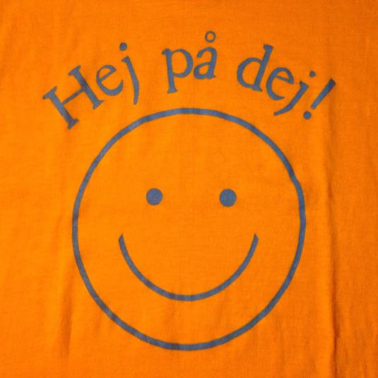 Vintage 1980's Swedish Have A Nice Day smiley face t-shirt