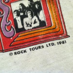 Vintage 1981 PAPER THIN Styx raglan concert t-shirt