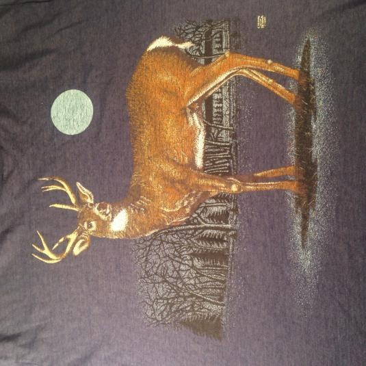 Vintage 1980's moonlight deer soft and thin t-shirt