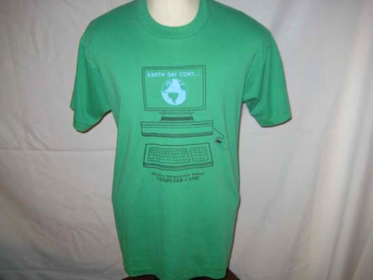 Old school computer vintage t-shirt, late 80's, early 90's