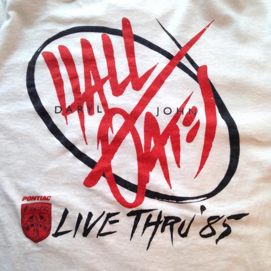 Vintage 1980's Hall & Oates long sleeves tour t-shirt