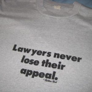 Vintage 1980's Funny lawyer t-shirt, Screen Stars