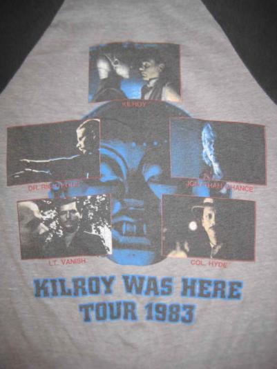 Vintage 1983 Styx raglan t-shirt, Kilroy was here