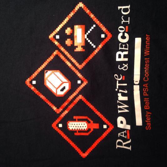 Vintage 1980's seat belt PSA contest winner t-shirt