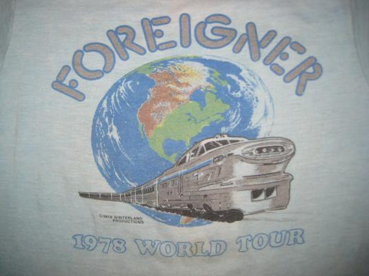 Vintage 1978 Foreigner Honolulu concert t-shirt