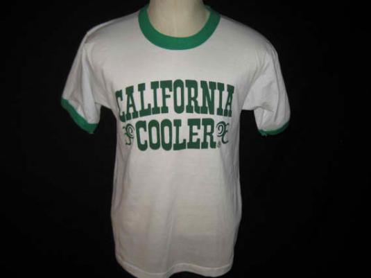 Vintage 1980's ringer t-shirt, California Coolers, M L