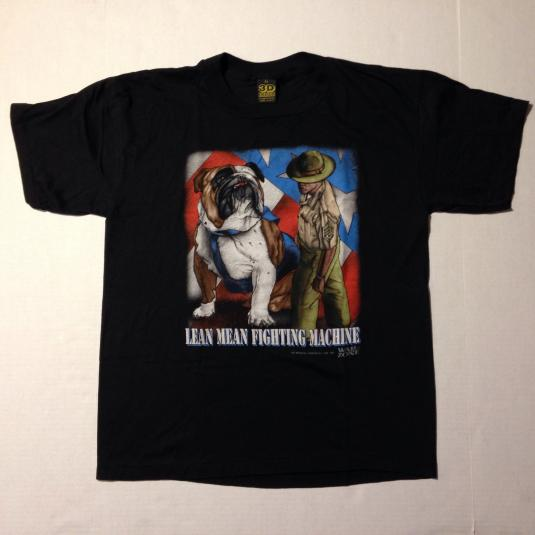 Vintage 1992 3D Emblem military bulldog t-shirt