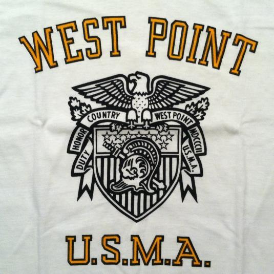 Vintage 1970's Champion blue bar West Point Academy t-shirt