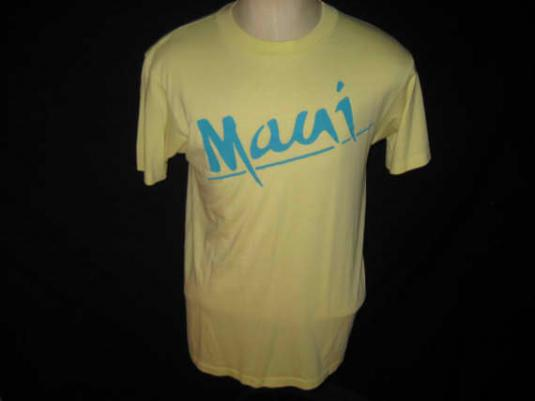 Vintage 1980's Maui t-shirt, soft and thin, L
