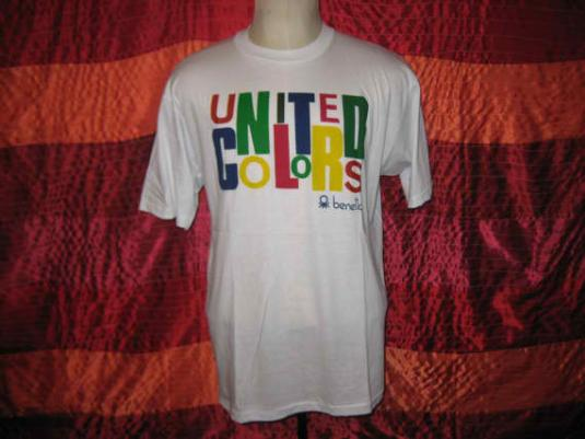 Vintage 80's Benetton t-shirt, soft and thin, L XL
