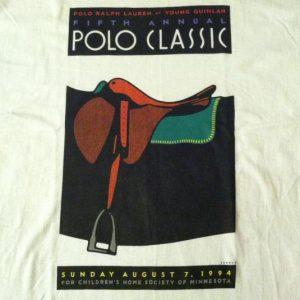 Vintage RARE 1994 Polo Ralph Lauren charity match t-shirt
