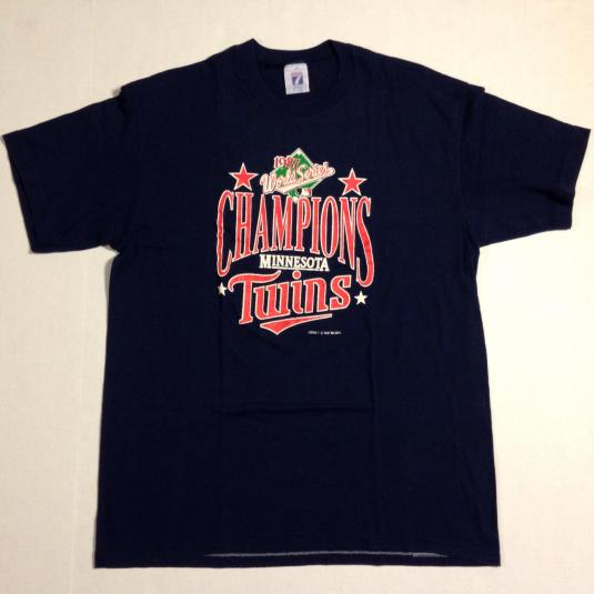 Vintage 1980's Minnesota Twins World Series t-shirt