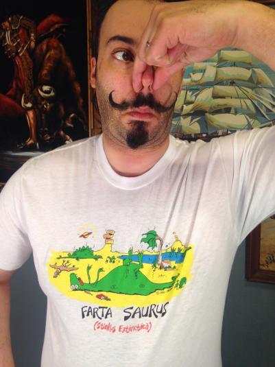 Vintage 1980's Farta Saurus dinosaur t-shirt