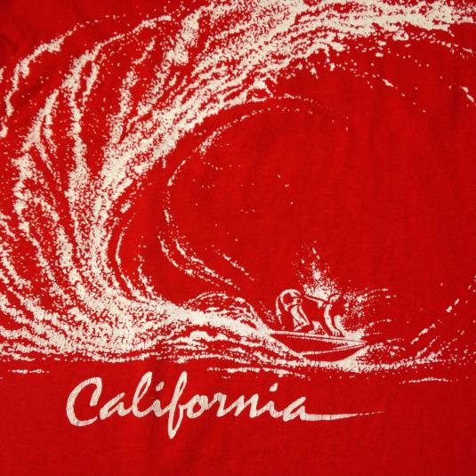 Vintage 1980's California surfer double sided t-shirt