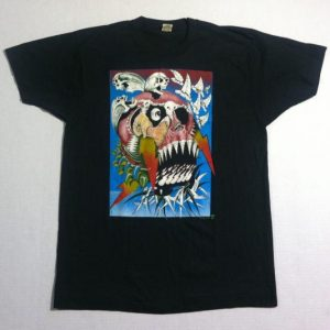 Vintage 1980's trippy LSD skull t-shirt