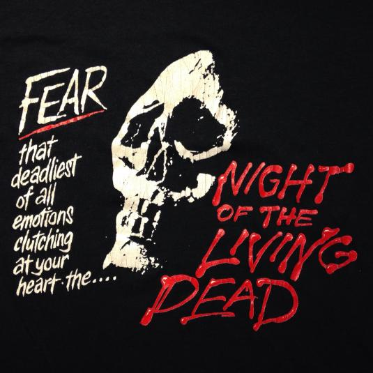 Vintage 1980's Night of the Living Dead zombie movie t-shirt