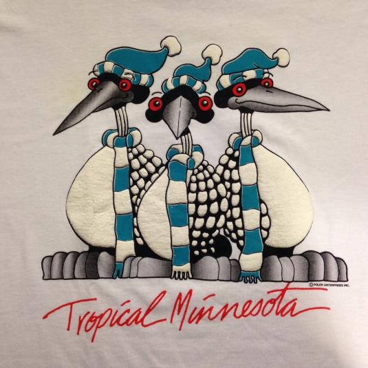 Vintage 1980's Tropical Minnesota winter t-shirt