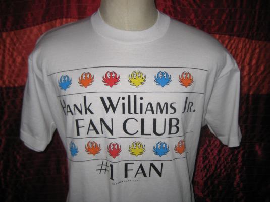Vintage 1991 Hank Williams Jr fan club t-shirt, L XL