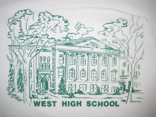 Vintage 80s 90s West High School t-shirt, large