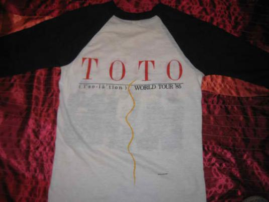 Original rare vintage 1985 TOTO raglan t-shirt