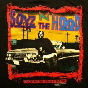 Vintage 1991 Boyz N The Hood hip hop movie Ice Cube t-shirt