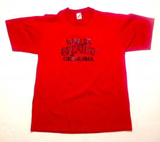 Vintage 1980's World's Greatest Grandma t-shirt