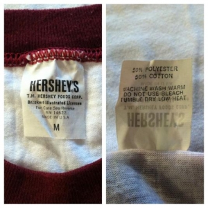 Vintage 1980's Hershey's Kisses chocolate lovers t-shirt