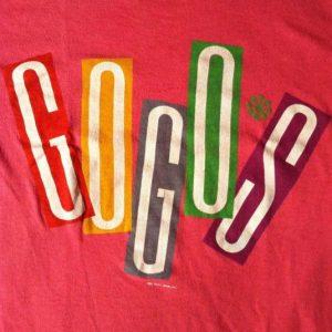 Vintage 1984 Go-Go's hot pink tour t-shirt