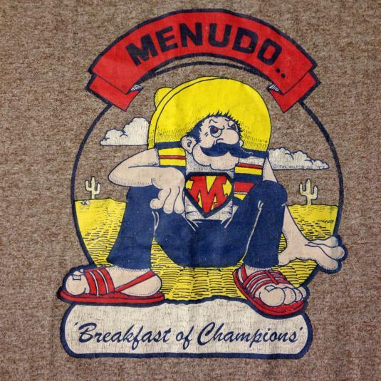 Vintage 1970's Menudo, Breakfast of Champions t-shirt