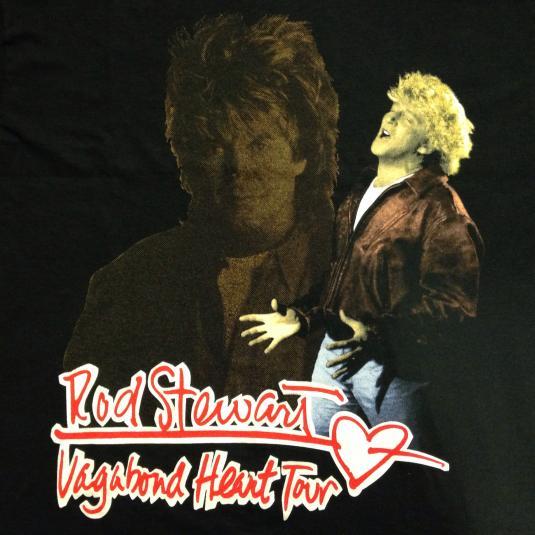 Vintage 1991-1992 Rod Stewart concert tour t-shirt