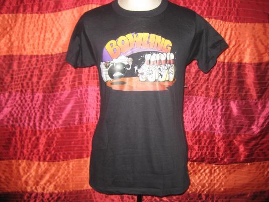 Vintage 1980s Bowling iron-on t-shirt, M L
