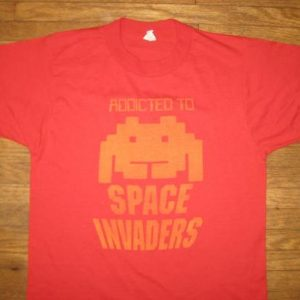 Vintage 1980's Space Invaders video game t-shirt