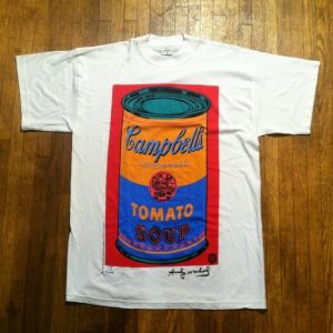 Vintage Andy Warhol Cambell's tomato soup can t-shirt