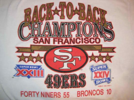 Vintage 1990 San Fransisco 49ers t-shirt, soft and thin, L X