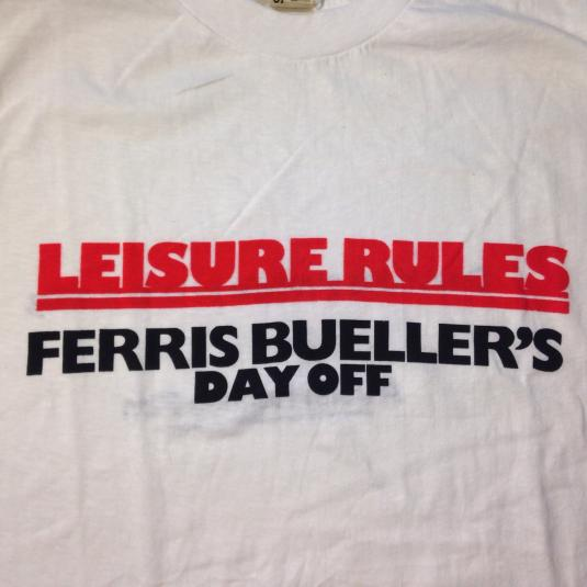 Vintage 1986 Ferris Bueller's Day Off movie promo t-shirt