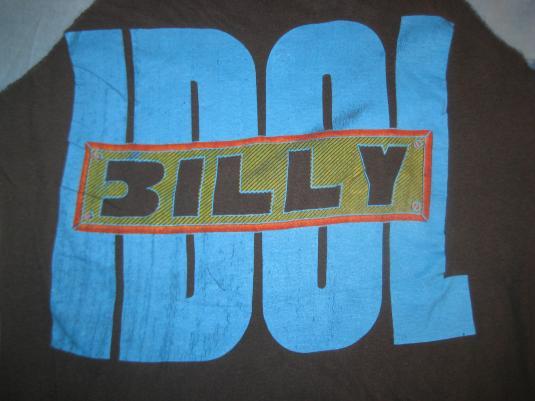 1980s Billy Idol vintage raglan t-shirt, S M