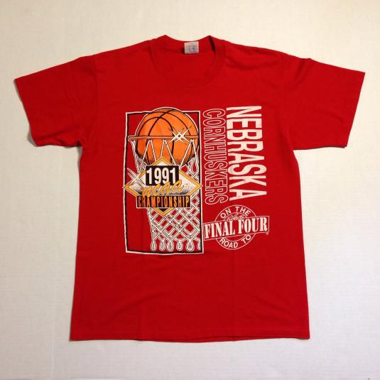 Vintage 1991 Nebraska Cornhuskers basketball champs t-shirt