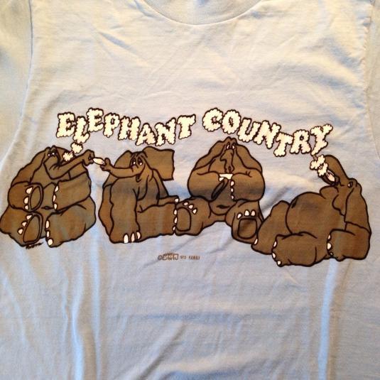 Vintage 70's Elephant Country marijuana Crazy Shirts t-shirt